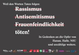Großplakate gegen Rassismus, Antisemitismus und Frauenfeindlichkeit