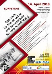 """Konferenz """"Genozide im Nahen Osten und Perspektiven für eine Aussöhnung"""""""