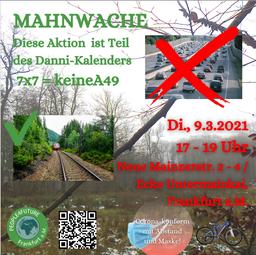 Mahnwache gegen den Ausbau der A49