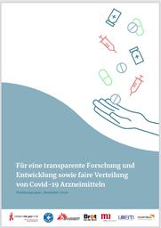 Zivilgesellschaftliches Positionspapier:  Versorgung mit Covid-19-Arzneimitteln